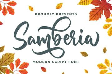 Samberia Modern Script Font