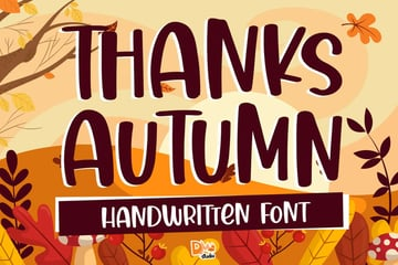 Thanks Autumn Handwritten Font