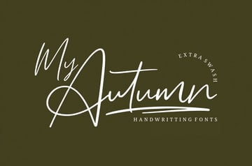 My Autumn Handwriting Fall Font