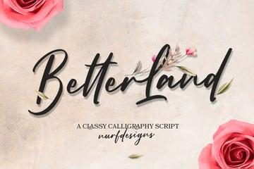 Better Land Calligraphy Font