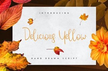 Delicious Yellow Script