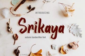 Srikaya Decorative Font