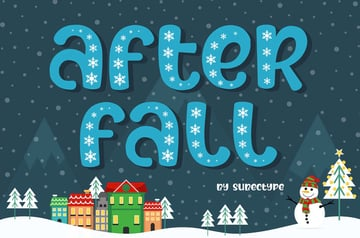 After Fall Snow Winter Font