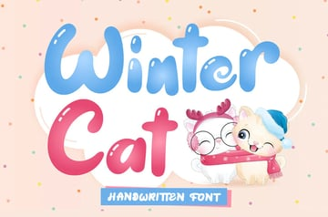 Winter Cat Display Font