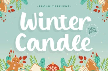 Winter Candle Display Font