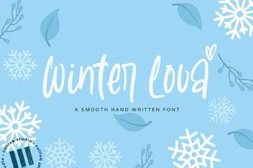 Winter Lova Handwriting Font