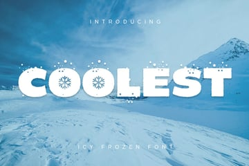 Coolest Snow Winter Font