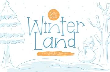 Winterland Cute Winter Themed Font