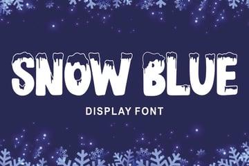 Snow Blue Display Font