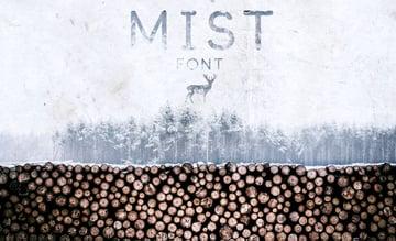 Mist Textured Winter Display Font