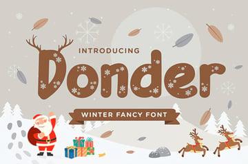 Donder Winter Font