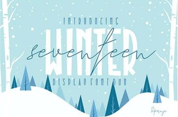 Seventeen Winter Font