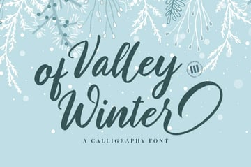 Valley of Winter Font