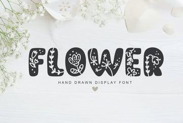 flower font