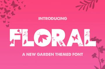 The Floral Font