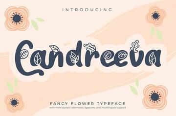 Candreeva Fancy Flower Font