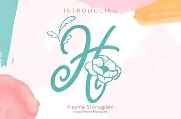 Hayme Monogram Font