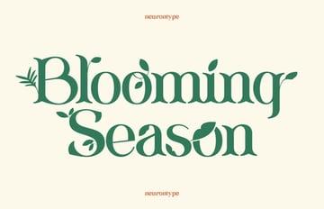Blooming Season Spring Font