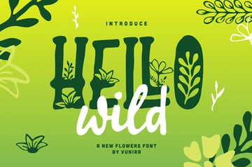 Hello Wild A New Flowers Font