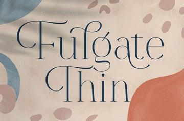 Fulgate Thin Serif Font