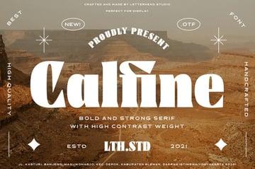 Calfine Bold Wedge Serif Font