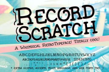 handwritten serif font