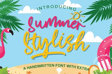 summer font bold