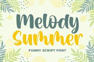 Melody Summer Funny Script Font