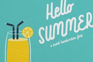 Hello Summer Sweet Handwritten Font
