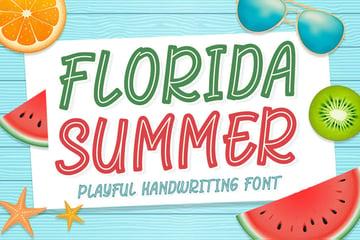Florida Summer Playful Handwriting Font
