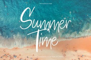 Summertime Thin Casual Script Font