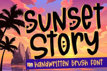 Sunset Story Handwritten Font