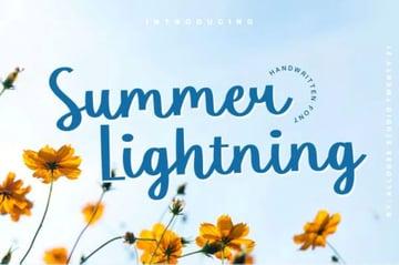Summer Lightning Font