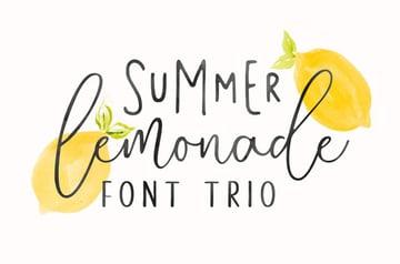 summer lemonade font