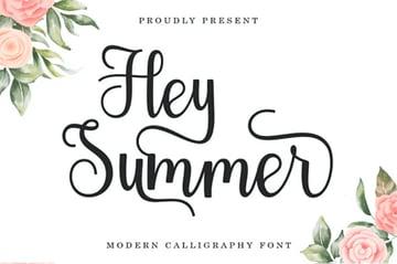 Hey Summer Font