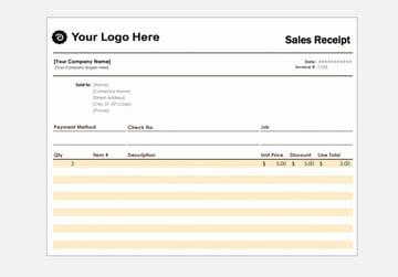 sales receipt purchase order