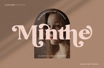 Minthe Serif Font