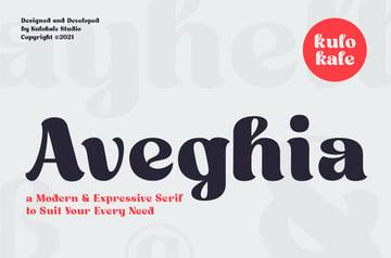Aveghia Display Serif Font