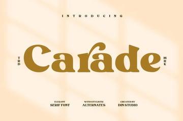 Carade Elegant Serif Font