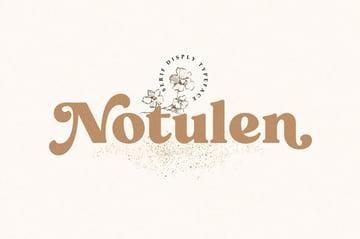 Notulen Display Serif Typeface