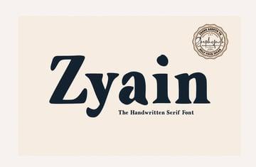 Zyain Handwritten Serif Font