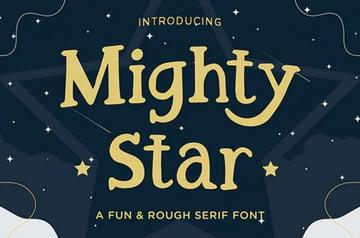 Mighty Star Fun Serif Font
