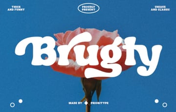 Brugty Thick Display Font