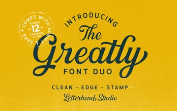 Greatly Font Duo + Logo Templates