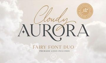 Cloudy Aurora Font Duo + Logo Templates