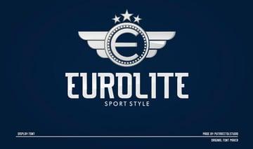 Eurolite Sport Logo Font + Logo Templates