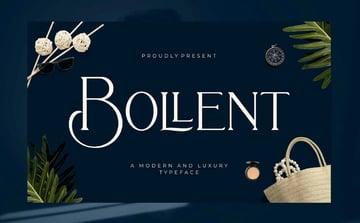 Bollent Luxury Logo Font