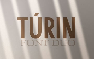 Turin Stylish Font Duo