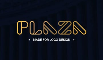 Plaza Logo Design Font