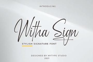 Witha Sign Logo Signature Font
